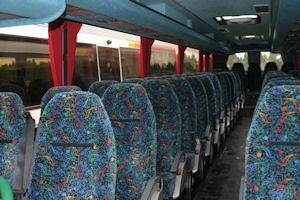 53/57 Seater Coach Interior