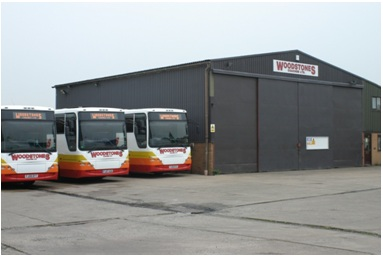 Our workshop and offices with some of our fleet
